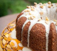 Fresh Apple Cake with Praline Frosting