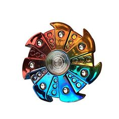 Type: Hand SpinnerColor: Multi-ColorQuantity: 1 PcMaterial: Plastic+ Zinc AlloyFeatures: Creative Windmill Shape 7 Gears Stress Relief Tip Spiral ToySize: 65mm x 65mm/2.56' x 2.56' (Approx.)Thickn...