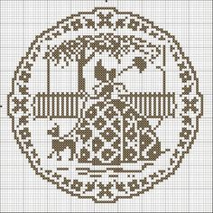 "Photo from album ""Женский образ"" on Yandex. Filet Crochet, Crochet Cross, Crochet Diagram, Crochet Chart, Crochet Motif, Crochet Patterns, Wedding Cross Stitch Patterns, Cross Stitch Flowers, Cross Stitch Charts"