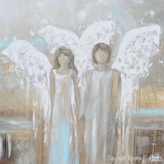 ORIGINAL Art Abstract Angel Painting Oil Painting Home Decor