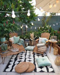 Home Decoration Ideas .Home Decoration Ideas Small Outdoor Patios, Outdoor Spaces, Outdoor Gardens, Outdoor Living, Outdoor Decor, Outdoor Gym, Modern Gardens, Outdoor Fire, Small Gardens