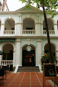 Shamian Island, Guangzhou...Starbucks! And yes, I have been here. Just as expensive as here. ;)