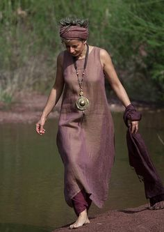 linen gauze tunic AMALTHEE creatons this dress looks like it's make with kaffe fabric the ones that have two color weaves