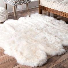 U NuLOOM Alexa Octo Sheepskin Wool Eight Pelt Shag Rug  Free Shipping Today  Overstockcom 13389451 Mobile