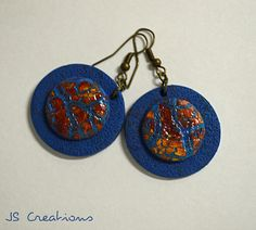 It's all about the crackles series: #polymer clay, #earrings