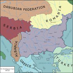 Human Anatomy Drawing, Fantasy Map, Alternate History, European History, Historical Maps, Albania, Bulgaria, Geology, Flags