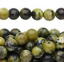50 Natural Yellow Tuquoise 8mm Round Gemstone Beads