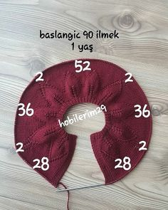 Baby Cardigan Collar For 1 Year Old - Best Knitting Baby Knitting Patterns, Knitting For Kids, Knitting Stitches, Baby Patterns, Free Knitting, Crochet Patterns, Diy Crafts Knitting, Diy Crafts Crochet, Cardigan Bebe