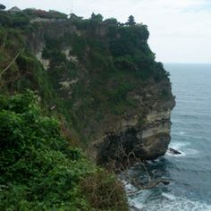 The temple at Uluwatu, Bali, Indonesia. This is the temple where a monkey stole my flip flop :(! Scary!!