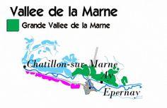 Grand Valleè del la Marne champagne map