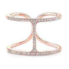 At Anne Sisteron Fine Jewelry, Buy rose gold and all diamond h ring online Jewelry Rings, Jewelery, Fine Jewelry, Wide Rings, Rings Online, Gold Diamond Rings, Jewelry Collection, Jewelry Design, Rose Gold