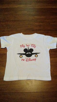 My First Disney Trip Inspired Girl or Boy Mouse Plane Iron On Transfer / Onesie / Shirt / Bib