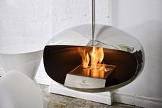 Another groovy fireplace. This one is by Cocoon. I wish I had a loft....this would look great in one.
