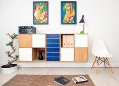 Los colores crean un ambiente vintage y escandinavo.La silla proporciona un toque vintage a este interior.