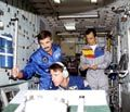 Training in full-size mock-up of ISS module