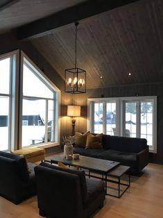 Modern Cabin Interior, Gray Interior, Interior Design, Rustic Living Room Furniture, Rugs In Living Room, Living Room Cabin, Cabin Design, House Design, Future House