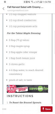 Tahinin dressing