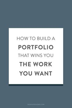 Does your portfolio attract the right kind of clients? Is your portfolio   reflective of your current skill set, or is it outdated? These are   questions I want you to consider as you read today's guest post by Hannah.    Hannah is part of Ditto, a creative design and branding agency based here   in