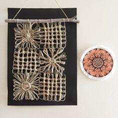 Flowerloom patchwork wallhanging