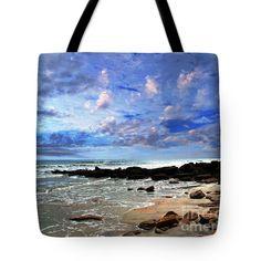 "Moonlit Beach Seascape at Wisdom Beach Florida C2 Tote Bag 18"" x 18"" by Ricardos Creations"
