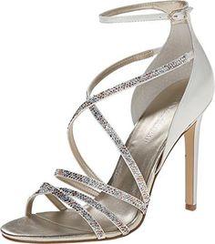 Ivanka Trump Hyde Ankle Strap Dress Sandals - Gold Multi