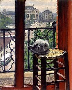 huariqueje: The White Cat in the Studio - Albert Marquet french 1875-1947