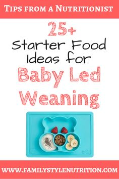 Need some inspiration for first foods for your baby led weaning babe? Suggestions from a nutritionist and mother of 2 BLW-babes, including info on how to prep! Healthy Baby Food, Healthy Kids, Healthy Eating, Breastfeeding And Formula Feeding, Baby Hacks, Baby Tips, Solids For Baby, Baby Led Weaning, Kids Nutrition
