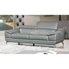 Found it at Wayfair.ca - Vegas Genuine Leather Sofa