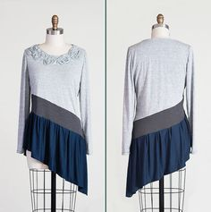 Hey, I found this really awesome Etsy listing at https://www.etsy.com/listing/174679197/knit-top-in-greys-and-blue-floral-design