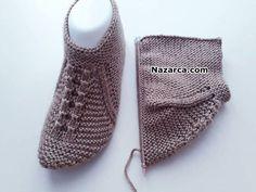 We haraso-p-easy model with Knitting Socks, Hand Knitting, Knitting Patterns, Crochet Ripple, Crochet Baby, Knit Crochet, Easy Crochet Headbands, Knitted Slippers, Knitting Videos