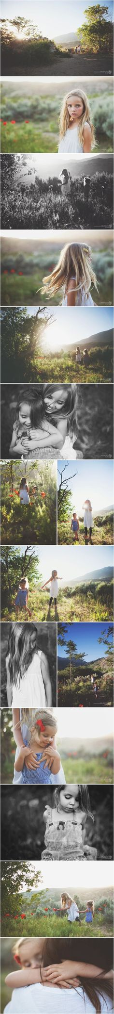 The poppies have bloomed in one of my favorite spots. Seriously for the week that these flowers are up, this might be one of the most gorgeous places EVER! My girls wanted NOTHING to do with me and the camera while we were here so I just stood back and watched them. Love their relationship. ** Click image for more details. #FamilyPictures