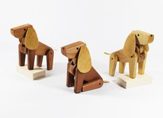Tommy and Chester by Radishapes. Wooden toys for dog lovers.