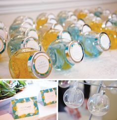 "Baby shower gift- bubble bath in Ikea spice jars. Shower theme- ""She's about to pop"" bubble theme. Baby Shower Gifts For Guests, Baby Shower Favors, Shower Party, Baby Shower Parties, Baby Shower Themes, Shower Ideas, Shower Prizes, Pop Bubble, Bubble Party"
