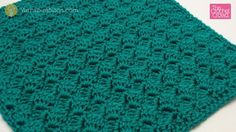 Side Lean Crochet Stitch written and video instructions