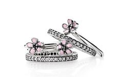 PANDORA Spring/Summer Cherry Blossom Rings    www.houseoffraser.co.uk