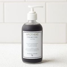 Apotheke Charcoal Liquid Soap #westelm -for the man who likes to work with his hands