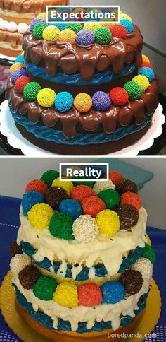 Expectations Vs Reality: 30 Of The Worst Cake Fails Ever Funny Fails, Funny Memes, Baking Fails, Bad Cakes, Expectation Reality, Funny Cake, Cooking Salmon, How To Make Cake, Funny Pictures