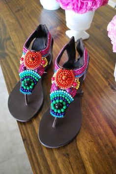 Colorful summer sandals