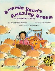 Amanda Bean's Amazing Dream (Marilyn Burns Brainy Day Books): Amanda Bean loves to count. But sometimes she can't count fast enough. Her teacher tells her that multiplying will help but Amanda is not convinced -- until she has an amazing dream. Math Literature, Math Books, Children's Books, Story Books, Library Books, Division Activities, Math Activities, Math Games, Teaching Multiplication