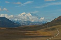 Road to Mount Mc Kinley Photo was taken from a view point in Denali National Park on a road trip through Alaska