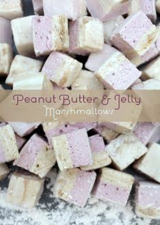 Peanut Butter and Jelly Marshmallows