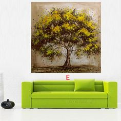 Hand Made Oil Painting On Canvas Tree Red Flower Oil Painting Wall Art for Living Room Decor Oil Painting Texture, Oil Painting Flowers, Oil Painting Abstract, Living Room Decor Pictures, Oil Painting For Beginners, Art Mural, Living Room Art, Tree Art, Red Flowers