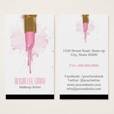 Shop Makeup Artist business card created by KeyholeDesign. Makeup Artist Cards, Makeup Artist Logo, Makeup Artists, Elegant Business Cards, Business Card Design, Visiting Card Design, Makeup Artist Business Cards, Illustration Artists, Design Cars