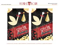 """Printables by HWTM - """"A Star is Born"""" Hollywood Baby Shower"""
