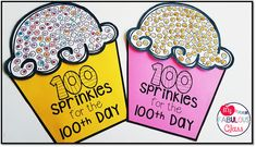My Fabulous Class: Day of School Take 2 with New Freebies - 100 Days of School 💯 100 Days Of School Centers, 100th Day Of School Crafts, 100 Day Of School Project, School Fun, School Projects, School Stuff, School Days, Kindergarten Freebies, Kindergarten Math Activities