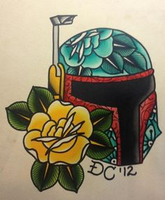 Tattoos By Drew Cottom | Painted this Boba Fett helmet today. i ...