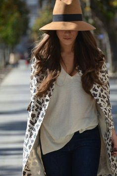 Absolutely love the idea of a fedora with a casual chic outfit !