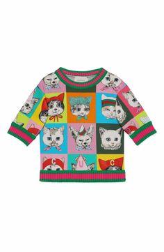 28638df58c1 Main Image - Gucci Graphic Sweatshirt (Little Girls   Big Girls) Graphic  Sweatshirt