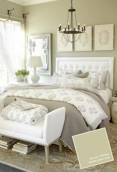 gorgeous master bedrooms gray + white