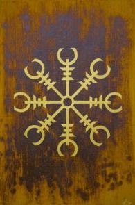 Aegishjalmur : Un symbole runique qui a des vertus magiques de protection.